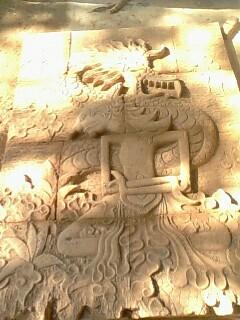 relief wayang batu alam paras jogja