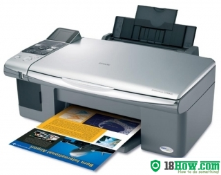 How to reset flashing lights for Epson CX5000 printer