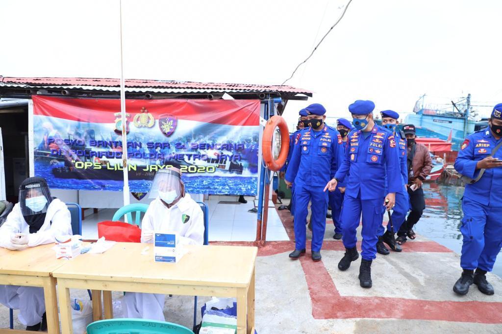 Jelang Tahun Baru, Dirpolair Korpolairud Baharkam Polri Cek Pospam Pelabuhan Penyebrangan