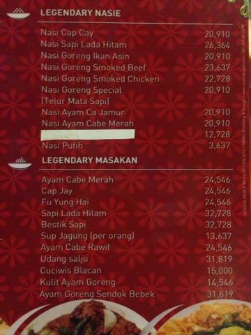 Menu Kitchen  Semarang
