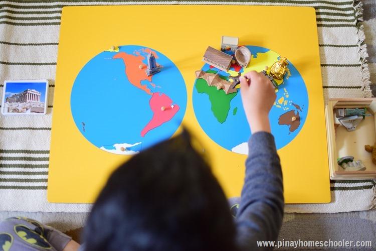 Montessori Continent Puzzle