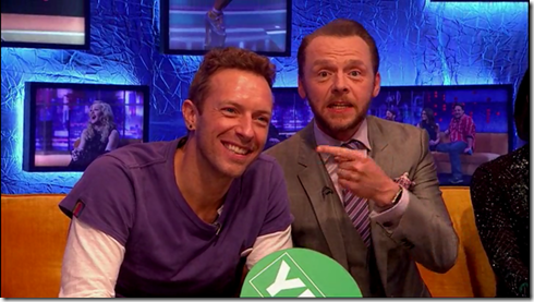 The Jonathan Ross show Coldplay Simon Pegg11