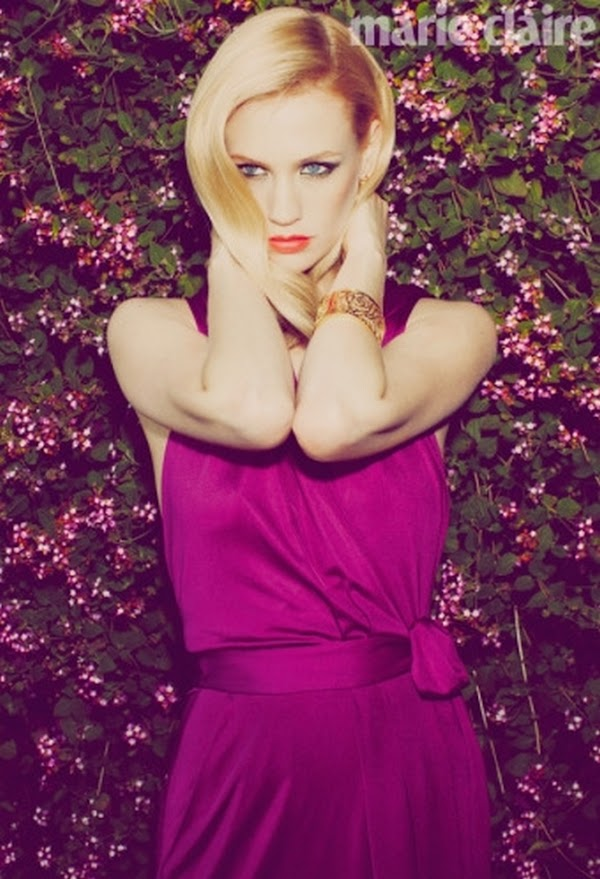 January Jones Marie Claire (May 2011)  #pretty girls:curve,Glamour,school girl,pretty girls
