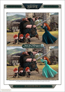 Disney/Pixar's Printable Spot the BRAVE Differences