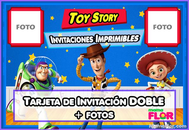 Invitaciones Cumpleaños de TOY STORY para imprimir + Fotos