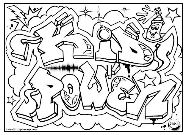 Free Printable Coloring Pages For Kids Rooms Free Graffiti Coloring Page