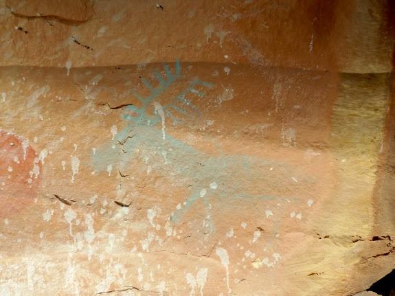 Blue elk pictograph