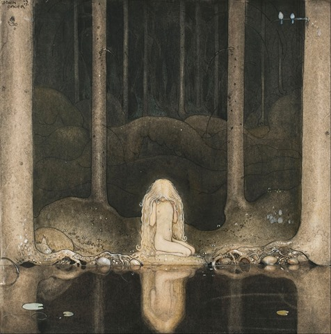 John_Bauer_-_Princess_Tuvstarr_gazing_down_into_the_dark_waters_of_the_forest_tarn._-_Google_Art_Project(1)