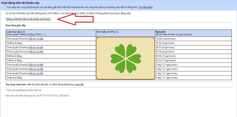 Kiểm tra hoạt động tài khoản Gmail