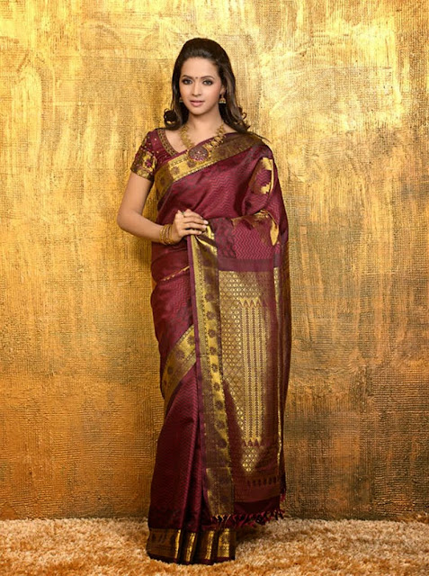 Malayalam Queen Bhavana's Sizzling Images Saree collection