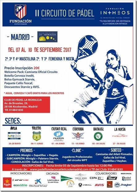 II Circuito de Pádel Fundación Atlético de Madrid del 7 al 10 septiembre 2017 en Madrid.