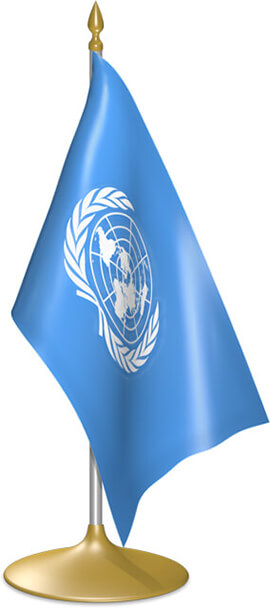 United Nations table flags - desk flags
