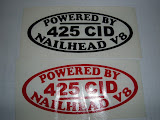 "425 Decals 5 1/4"" long, red or black 6.00 each  OUT OF STOCK"