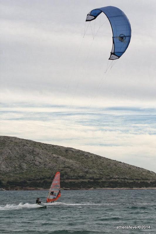 Kitesurfing at Anavisos