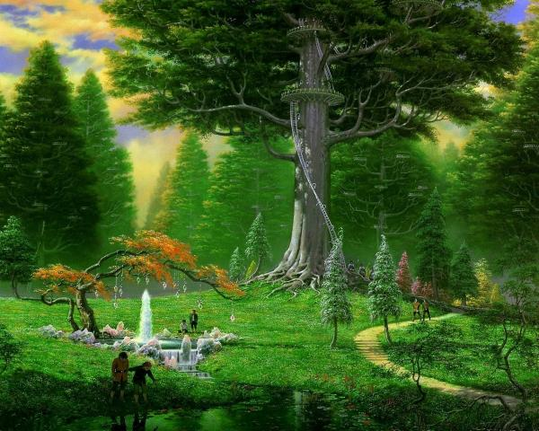 Great Tree Of Nature, Magical Landscapes 1