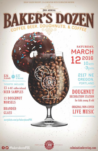 Baker's Dozen Coffee Beers & Doughnuts Next Weekend