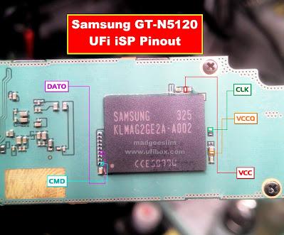 ISP PinOut Samsung GT-N5120