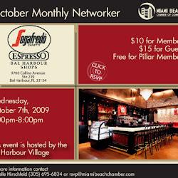 October Monthly Networker at Segafredo Bal Harbour