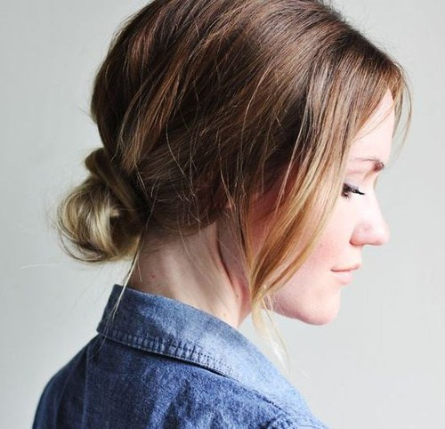 Trendy, creative and easy  updos for hair 2017 4