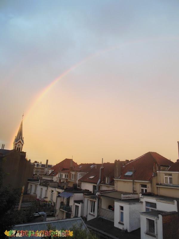 Rainbow over Sint-Lambrecht-Woluwe