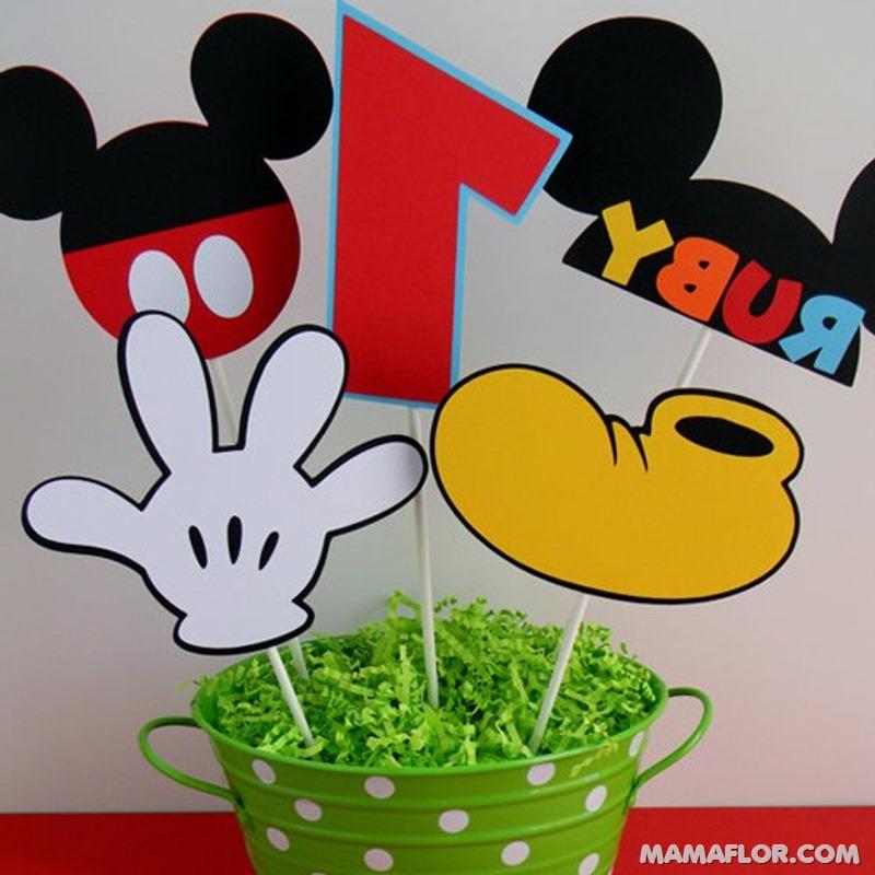 centro de mesa mickey y minnie mouse --- (2)