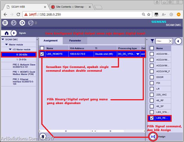 Konfigurasi Digital Output - SICAM A8000