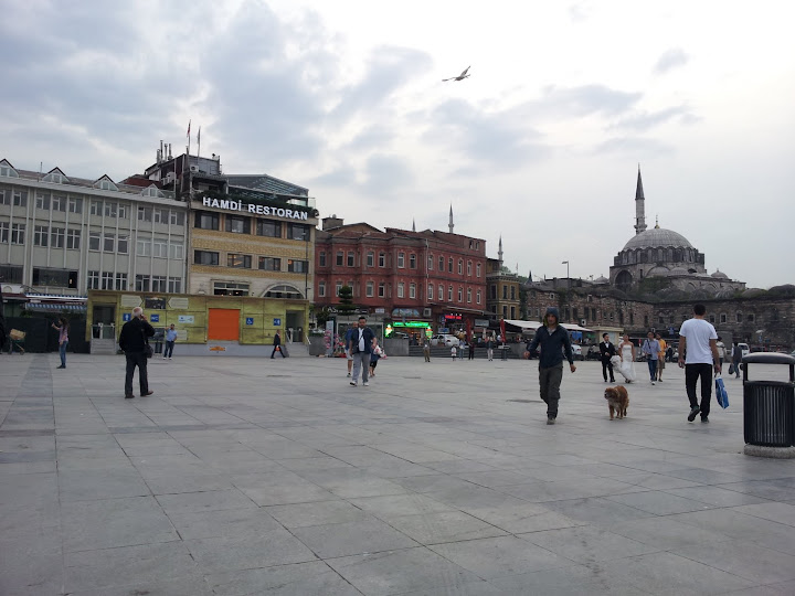 An open square near the Spice Market, Istanbul