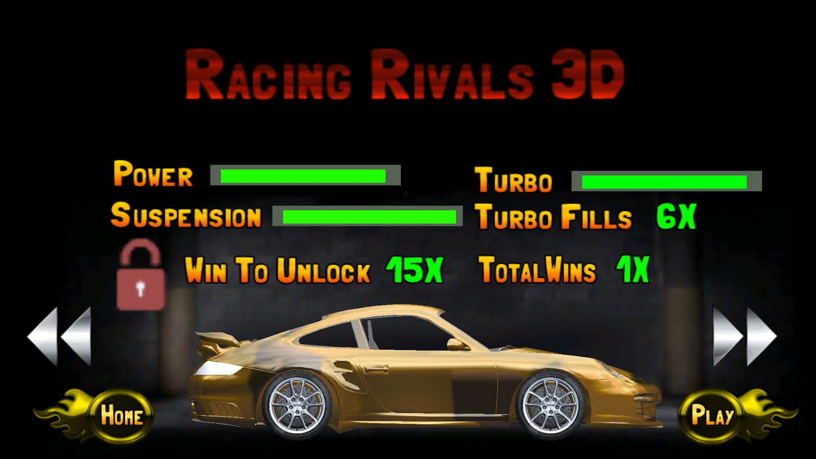 Racing rivals 3d extreme race screenshot