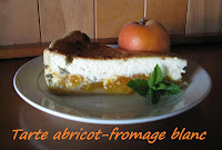 Tarte au fromage blanc et à l'abricot - recette indexée dans les desserts