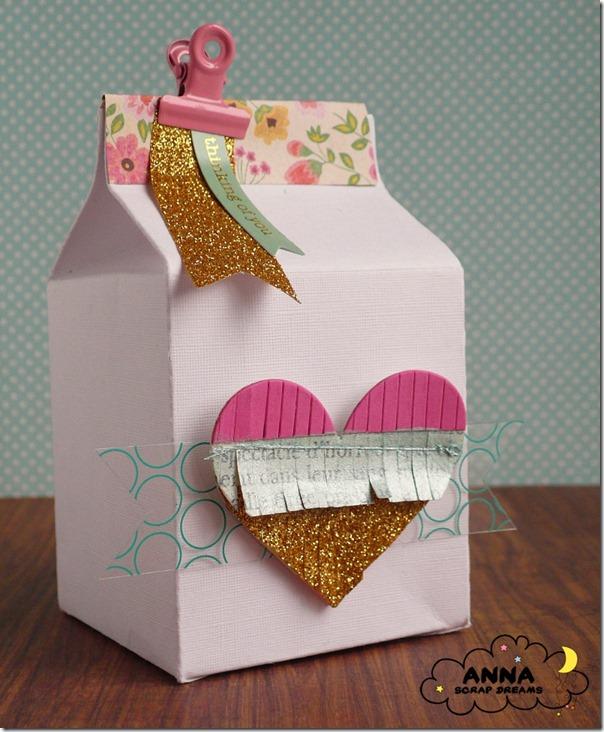 scatolina Milk Carton con cuore
