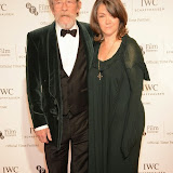 WWW.ENTSIMAGES.COM -   John Hurt and Ann Rees Meyers  arriving at       IWC Schaffhausen and BFI London Film Festival - private dinner at Battersea Evolution, London October 7th 2014Swiss watch brand and British Film Institute host party to celebrate their three year partnership.                                                Photo Mobis Photos/OIC 0203 174 1069