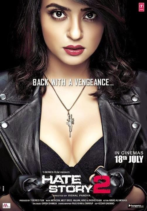 Poster Of Hindi Movie Hate Story 2 (2014) Free Download Full New Hindi Movie Watch Online At alldownloads4u.com