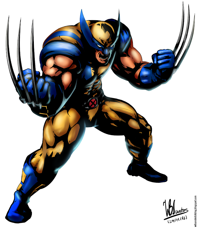 Study of the artwork from Marvel vs Capcom 3: Wolverine