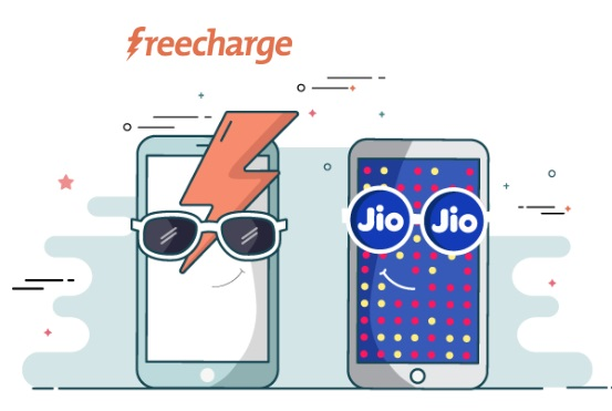 FreeCharge - Get 100% Cashback up to the Rs.100 on Jio Recharges