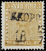 Suède 1855 tre skilling jaune