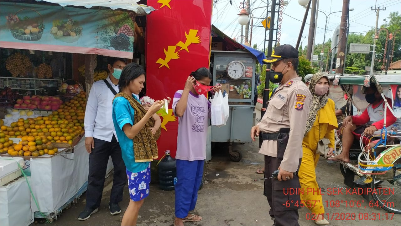 Polsek Kadipaten mengikuti Operasi Yustisi Gabungan di Pasar Kadipaten