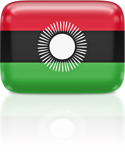 Malawian flag clipart rectangular