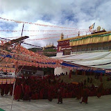 Massive religious gathering and enthronement of Dalai Lama's portrait in Lithang, Tibet. - l16.JPG