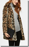 Wallis Leopard Print Faux Fur Coat
