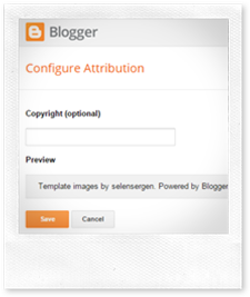 Remove Blogger Attribution Gadget