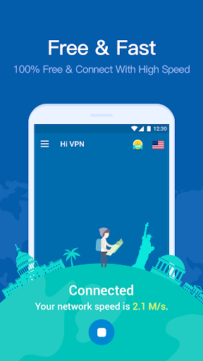 Screenshot for Hi VPN- Free VPN Proxy Server, Hotspot VPN Service in Hong Kong Play Store