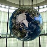 giant globe at the miraikan in Odaiba, Tokyo, Japan