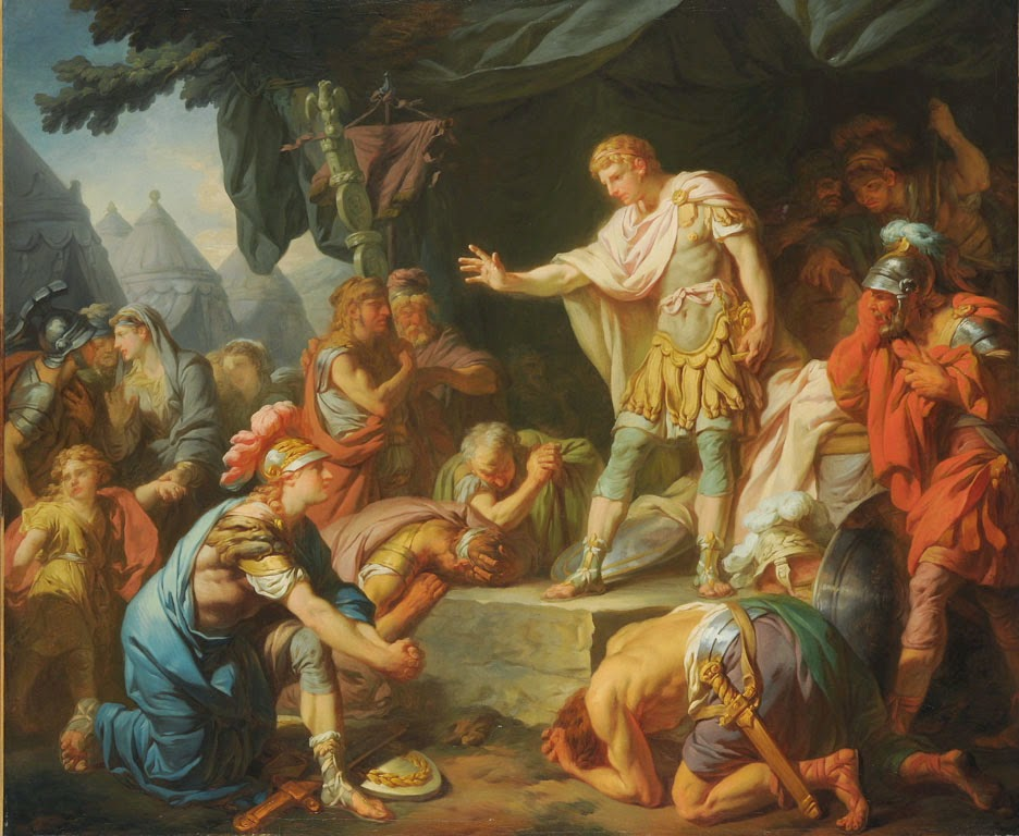 François-André Vincent - Germanicus apaise la sédition dans son camp