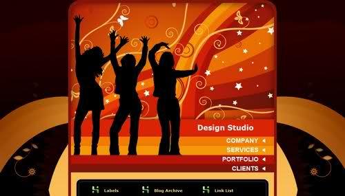 Free Blogger Design Studio Blog Web2.0 Template