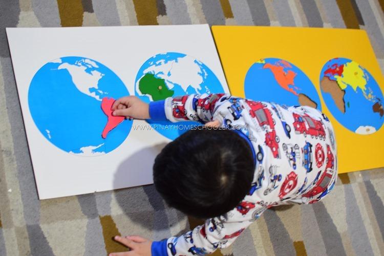 Montessori Continent Puzzle Map