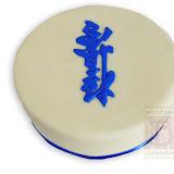 65. kép: Formatorták (fiúknak) - Kék mintás torta