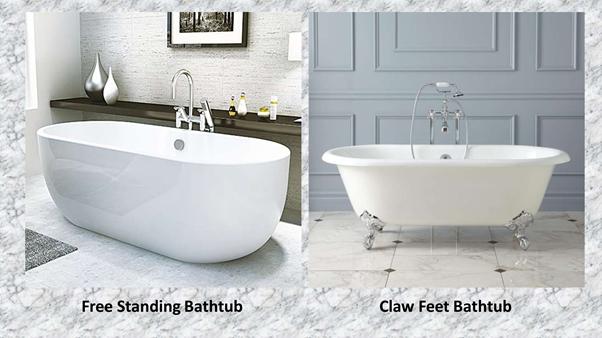 TYPES OF BATHTUBS