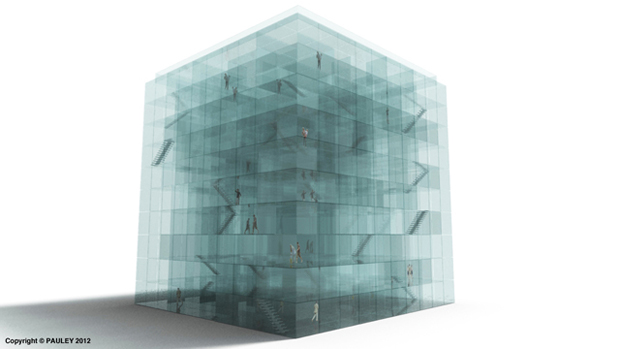 9-Story Glass Maze by Phil Pauley