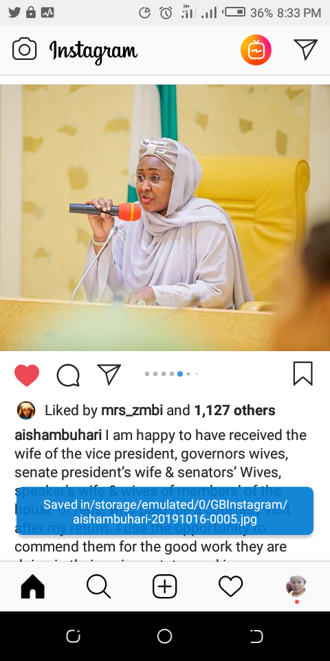 The first lady of Nigeria, Aisha Buhari, Wife of The Vice President, sd news blog, presidential Villa, Future Assured program, Aisha buhari future assured program, Instagram viral videos, yemi osibanjo, shugasdiary news blog, shugasdiary.com.ng, politics Nigeria,