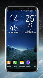 Weather Widget Galaxy S8 Pro Screenshot